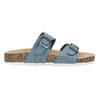 Dámske modré korkové papuče bata, modrá, 579-9625 - 19