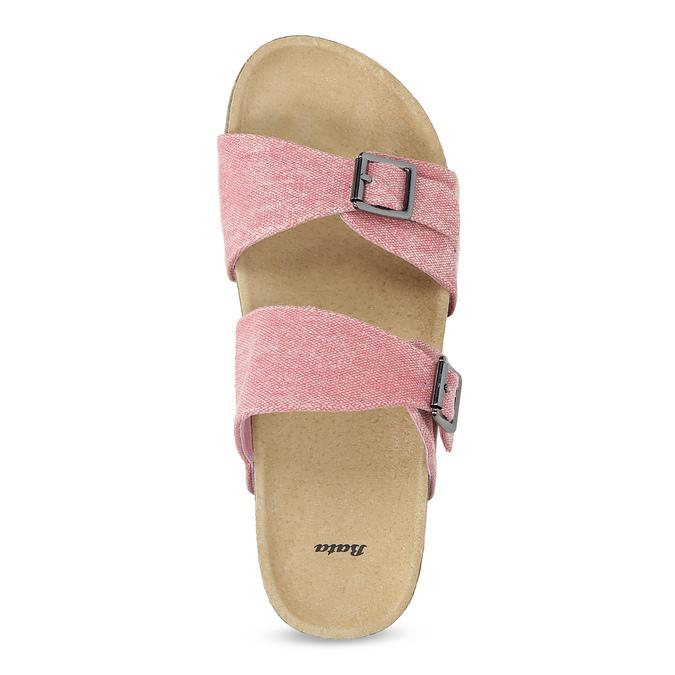 Dámske ružové korkové papuče bata, ružová, 579-5625 - 17