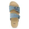 Dámske modré korkové papuče bata, modrá, 579-9625 - 17