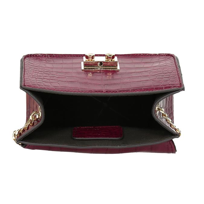 Vínová Crossbody kabelka s retiazkou bata, červená, 961-5869 - 15