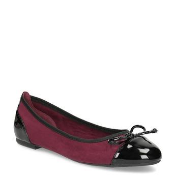 Vínové baleríny s lakovanou špičkou a pätou bata, červená, 529-5640 - 13