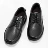 Pánske čierne kožené ležérne poltopánky bata, čierna, 824-6630 - 16
