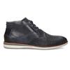 Modrá pánska kožená členková obuv bata, modrá, 826-9912 - 19