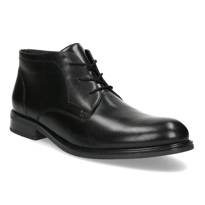 Kožená pánska členková obuv bata, čierna, 824-6893 - 13