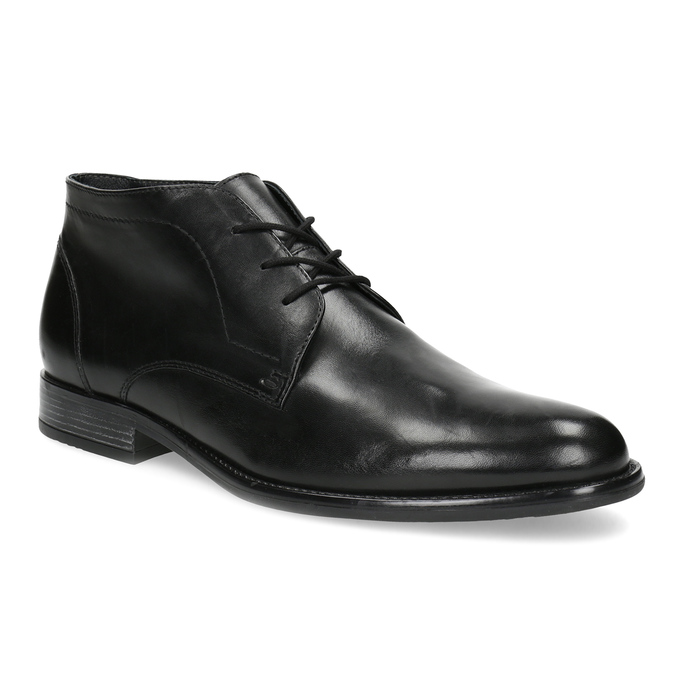 Pánska kožená členková obuv bata, čierna, 824-6892 - 13