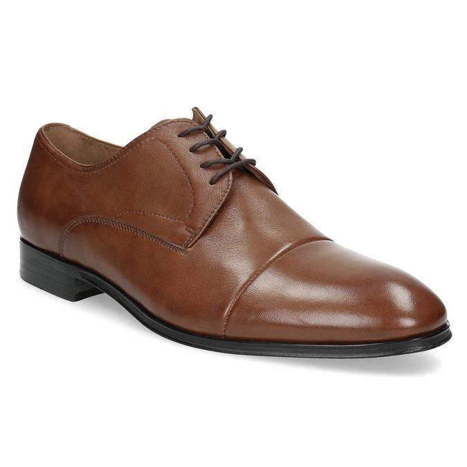 Hnedé kožené pánske poltopánky bata, hnedá, 826-3406 - 13