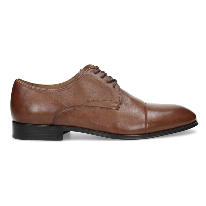 Hnedé kožené pánske poltopánky bata, hnedá, 826-3406 - 19