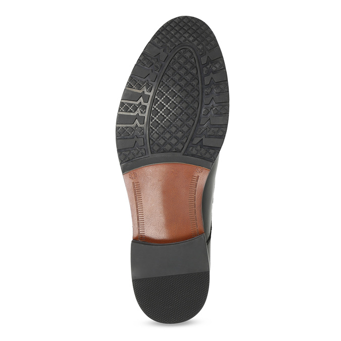 Pánske kožené Monk shoes čierne bata, čierna, 824-6632 - 18