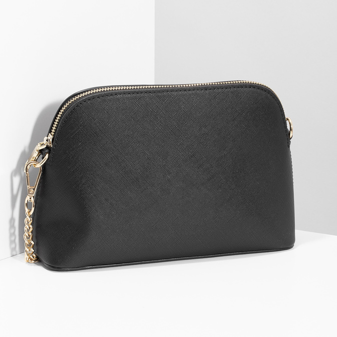 Čierna Crossbody kabelka s retiazkou bata, čierna, 961-6925 - 17