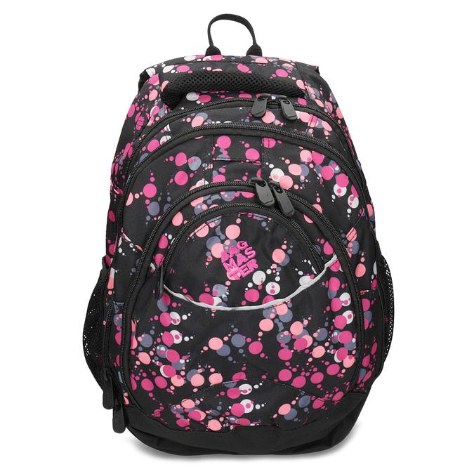 Školský batoh s bodkami bagmaster, ružová, 969-5719 - 26