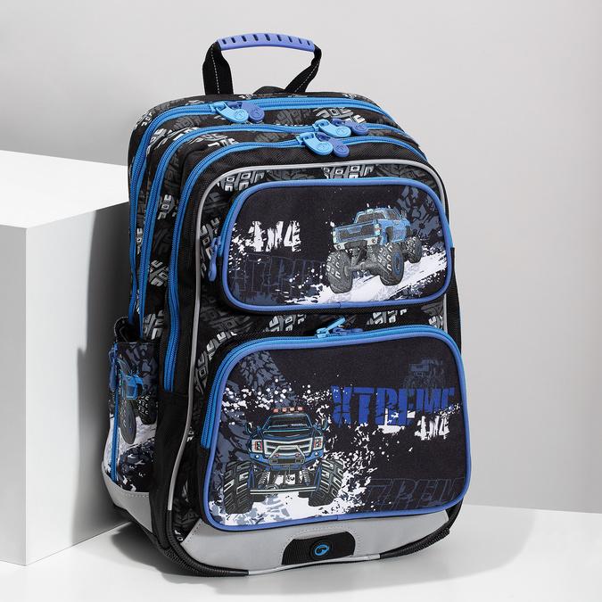 Školský batoh s autom bagmaster, modrá, 969-9713 - 17