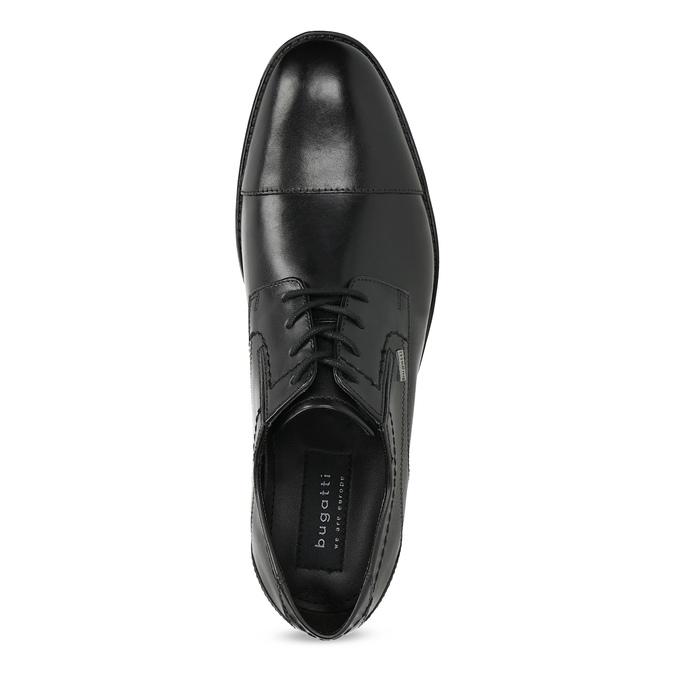 Čierne kožené derby poltopánky bugatti, čierna, 824-6088 - 17