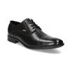 Čierne kožené derby poltopánky bugatti, čierna, 824-6088 - 13