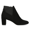 Dámska čierna členková obuv na podpätku bata, čierna, 799-6625 - 19