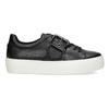 Čierne dámske tenisky s prackou bata-light, čierna, 541-6604 - 19