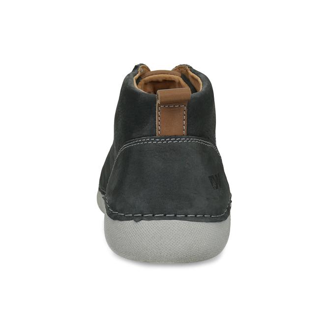 Členkové kožené tenisky s prešitím weinbrenner, šedá, 846-6720 - 15