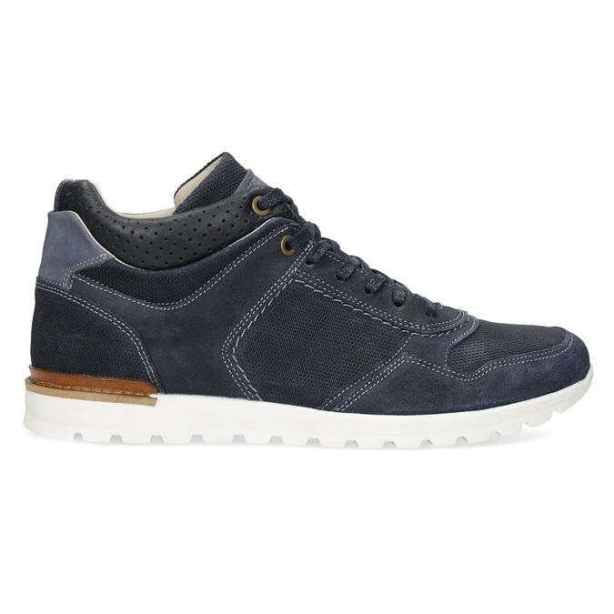 Tmavomodré kožené tenisky bata, modrá, 846-9717 - 19