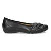 Čierne kožené dámske baleríny gabor, čierna, 524-6048 - 19