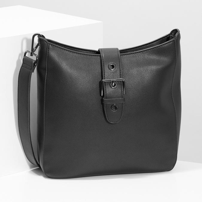Čierna dámska kabelka s prackou bata, čierna, 961-6870 - 17