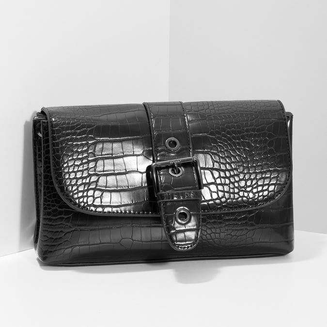 Čierna Crossbody kabelka s prackou bata, čierna, 961-6873 - 17
