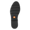 Dámske kožené mokasíny so strapcami flexible, čierna, 514-6600 - 18