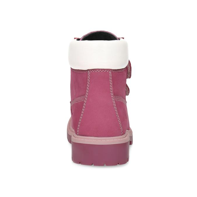 Ružová kožená detská členková obuv weinbrenner, ružová, 226-5201 - 15