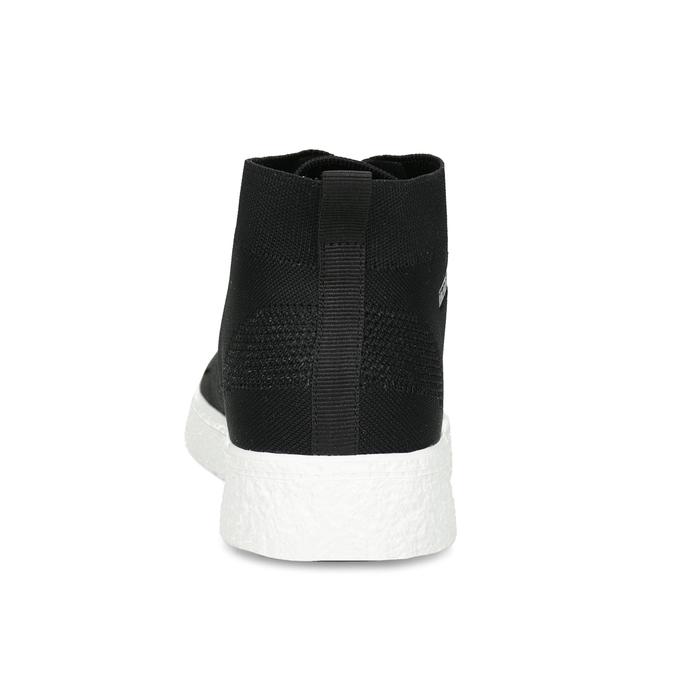 Pánske čierne členkové tenisky z úpletu north-star, čierna, 849-6632 - 15