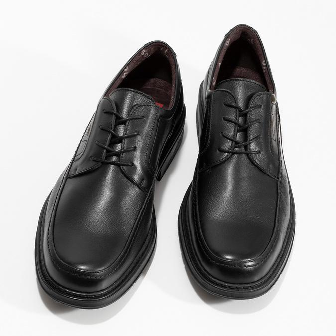 Pánske kožené poltopánky fluchos, čierna, 824-6448 - 16