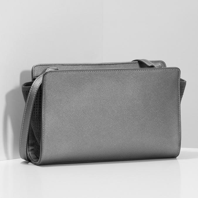 Crossbody kabelka s kamienkami bata, šedá, 961-1885 - 17