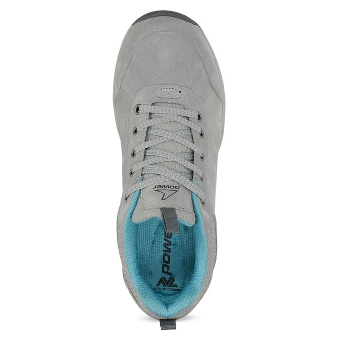 Dámske šedé kožené tenisky power, šedá, 503-2146 - 17