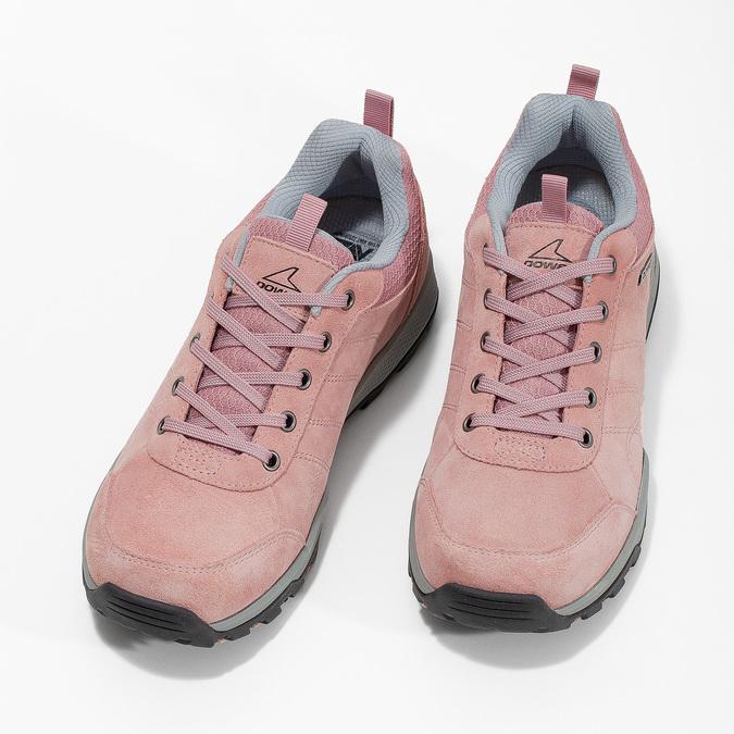Ružové dámske kožené tenisky power, ružová, 503-5146 - 16
