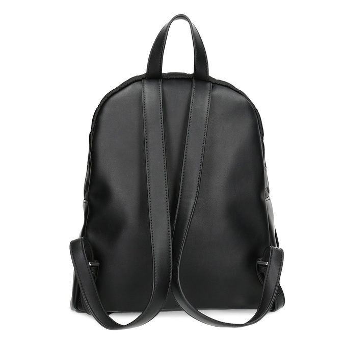 Čierny dámsky batoh s prešívaním bata, čierna, 969-6911 - 16