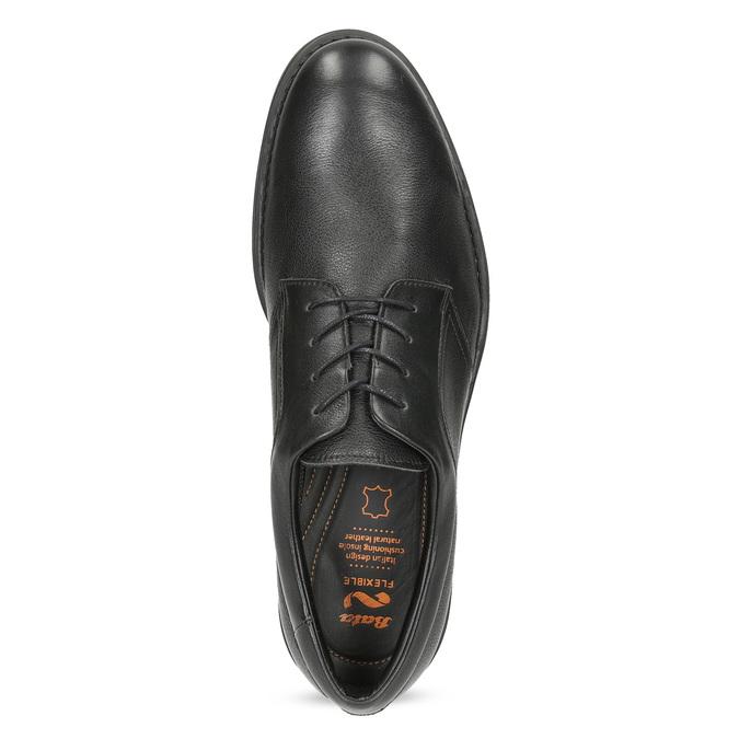 Pánske čierne kožené poltopánky flexible, čierna, 824-6766 - 17