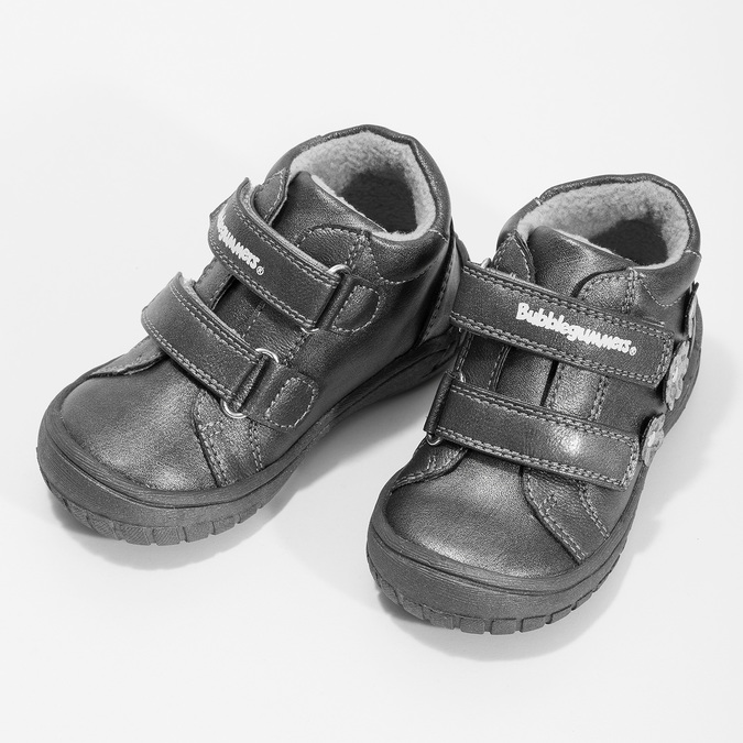 Dievčenské členkové topánky s kytičkami bubblegummers, šedá, 121-2622 - 16