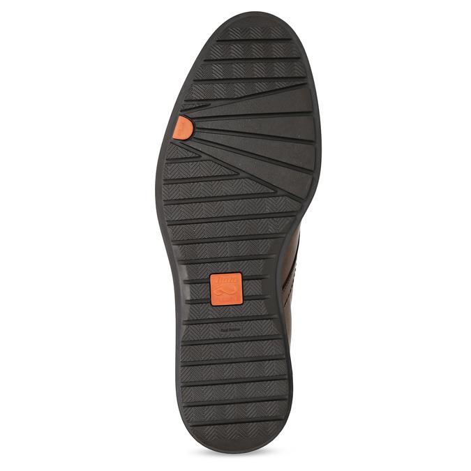 Členková kožená pánska hnedá obuv flexible, hnedá, 896-4707 - 18
