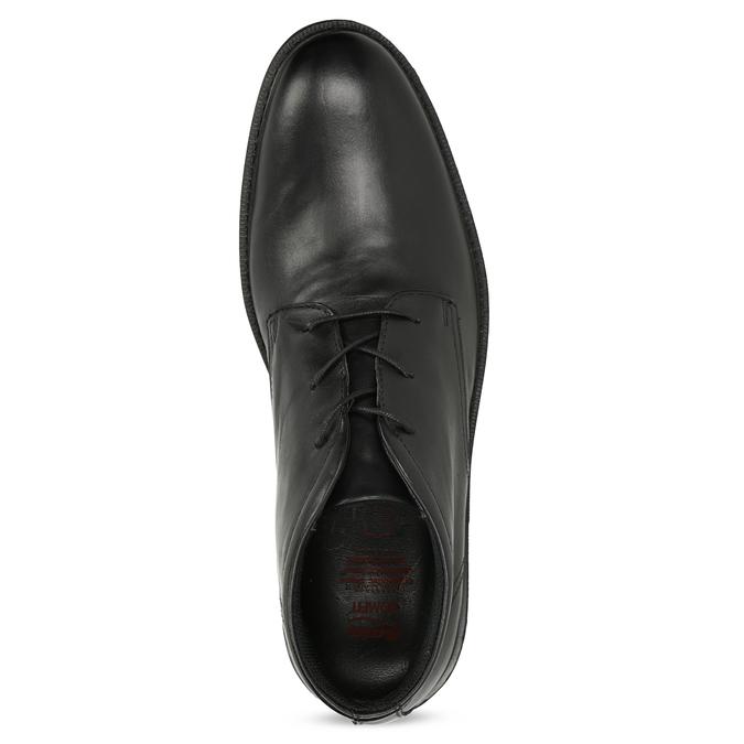 Kožená členková obuv čierna pánska hladká comfit, čierna, 824-6822 - 17