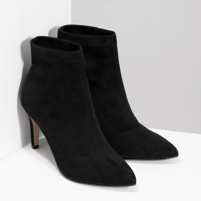 Členkové dámske čižmy na ihličkovom podpätku bata, čierna, 799-6620 - 26