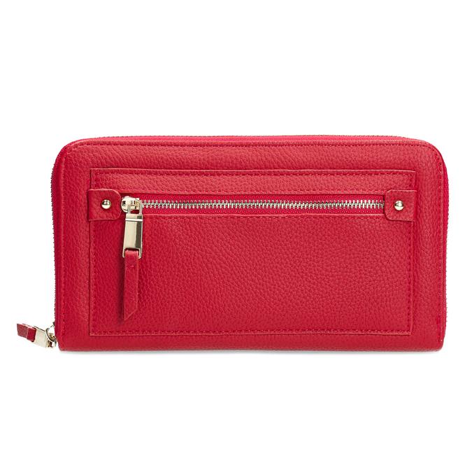 Dámska červená peňaženka so zipsom bata, červená, 941-5221 - 26