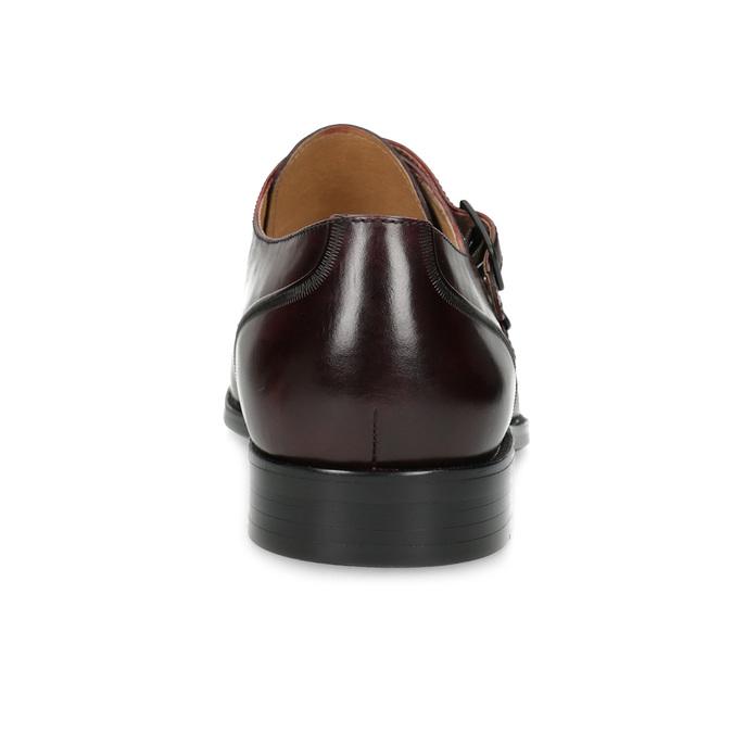 Pánske kožené Monk Shoes poltopánky bata, červená, 826-5738 - 15