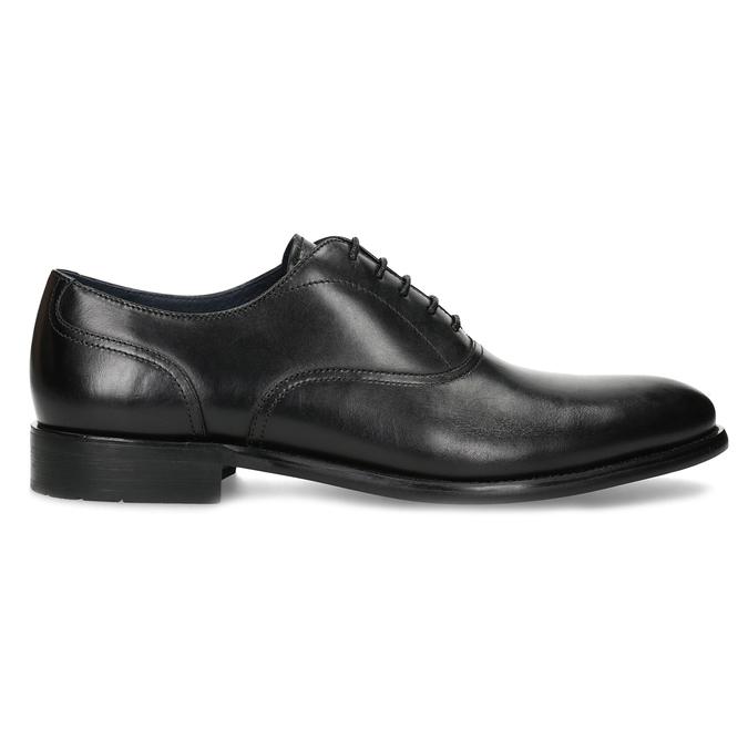 Pánske čierne kožené Oxford poltopánky bata, čierna, 824-6615 - 19