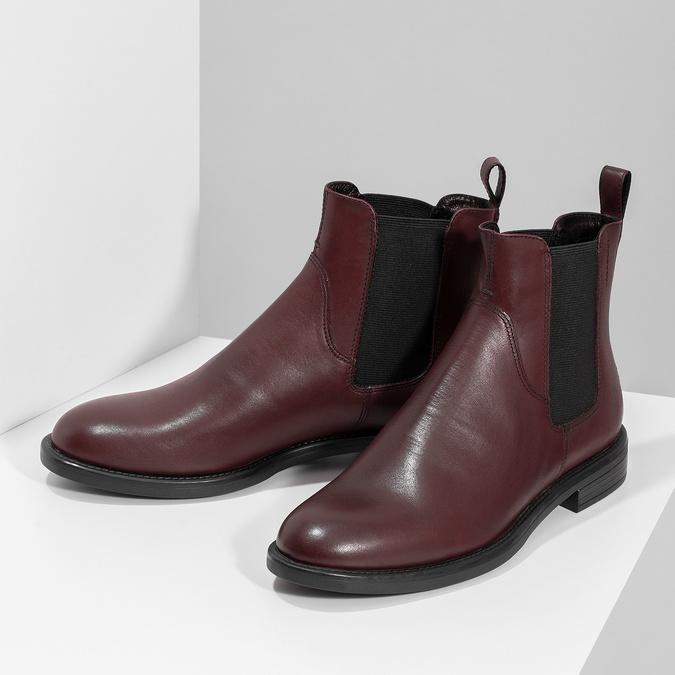 Hnedá kožená dámska Chelsea obuv vagabond, hnedá, 516-4130 - 16