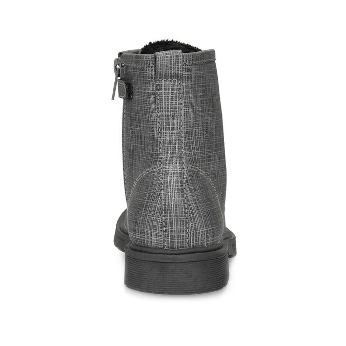 Členková detská obuv so zamatovými šnúrkami mini-b, šedá, 321-6620 - 15