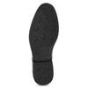 Pánske kožené mokasíny s prešitím bata, čierna, 814-6628 - 18