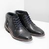 Členková pánska kožená obuv bata, čierna, 826-6611 - 26