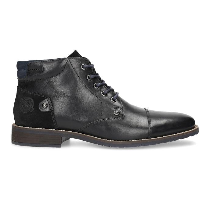 Členková pánska kožená obuv bata, čierna, 826-6611 - 19