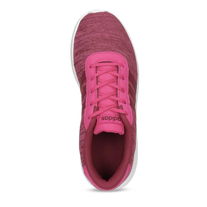 Ružové detské tenisky so žíhaním adidas, ružová, 409-5188 - 17