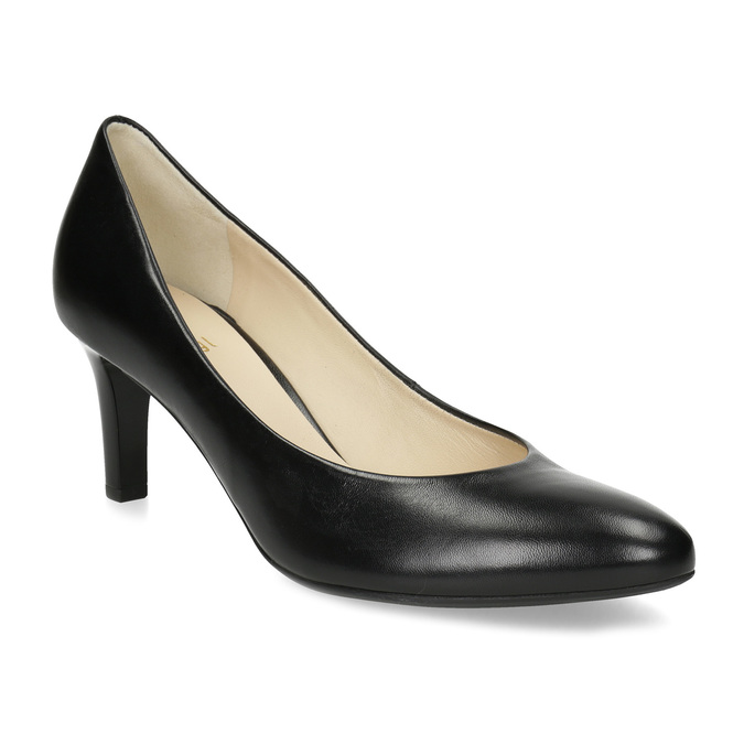 0378a0eee1b0 Hogl Čierne kožené dámske lodičky - Hogl