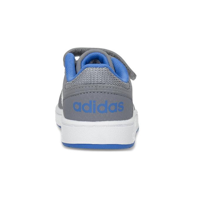 Šedé detské tenisky s modrými detailami adidas, šedá, 101-2194 - 15