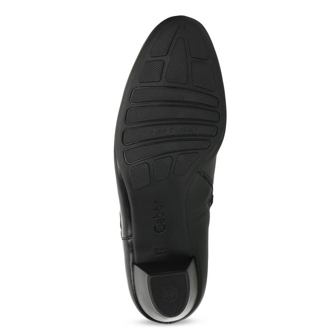 Čierne kožené členkové čižmy s mašľou gabor, čierna, 614-6005 - 18