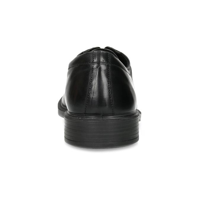 Pánske kožené poltopánky čierne comfit, čierna, 824-6820 - 15
